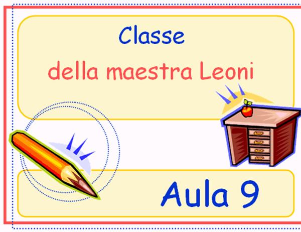 Cartello della classe elementare