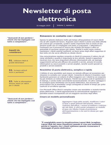 Newsletter di posta elettronica