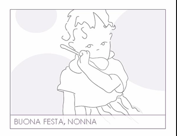 Biglietto per la Festa dei nonni (per la nonna)
