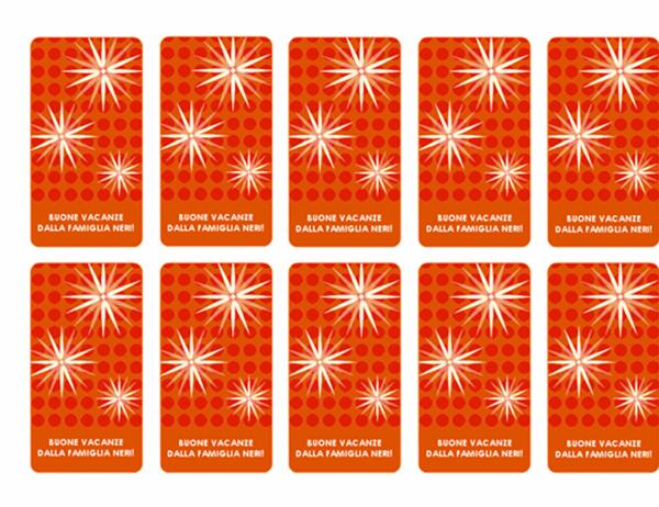 Cartoncini per festività (fiocchi di neve, compatibili con Avery 5871, 8871, 8873, 8876 e 8879)