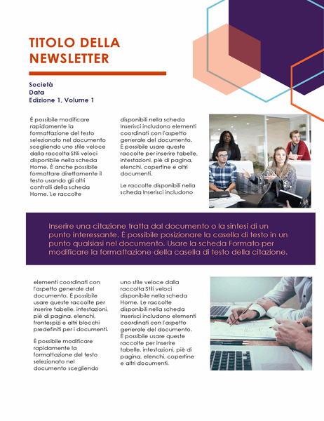Newsletter (Modello Executive, 2 pagine)