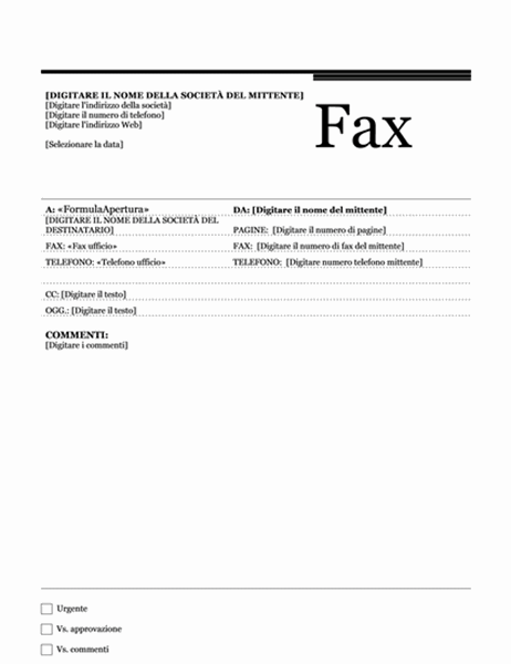 Fax stampa unione (tema Tramonto)