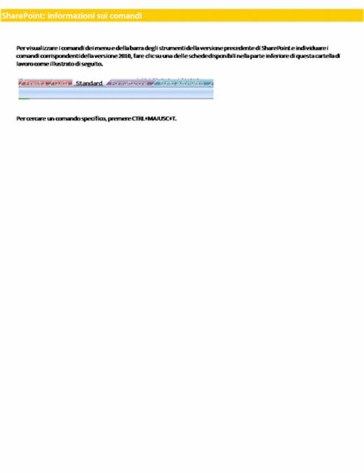 Cartella di lavoro di riferimento per la barra multifunzione di SharePoint Server