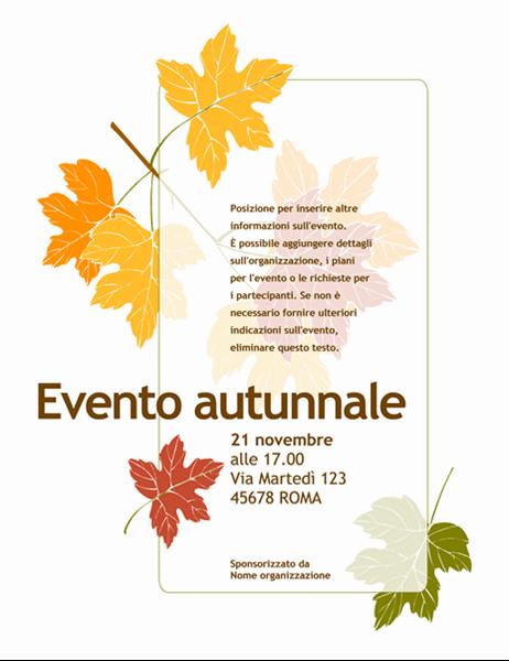 Volantino evento autunnale (con foglie)