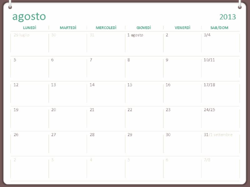 Calendari accademici 2013-2014 (agosto)