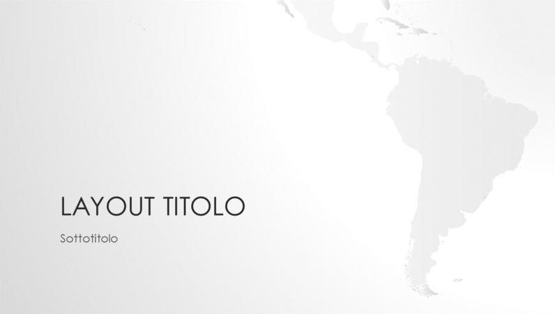 Serie Cartine del mondo, presentazione del continente sudamericano (widescreen)