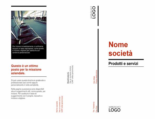 Brochure a tre ante (Rosso e nero)
