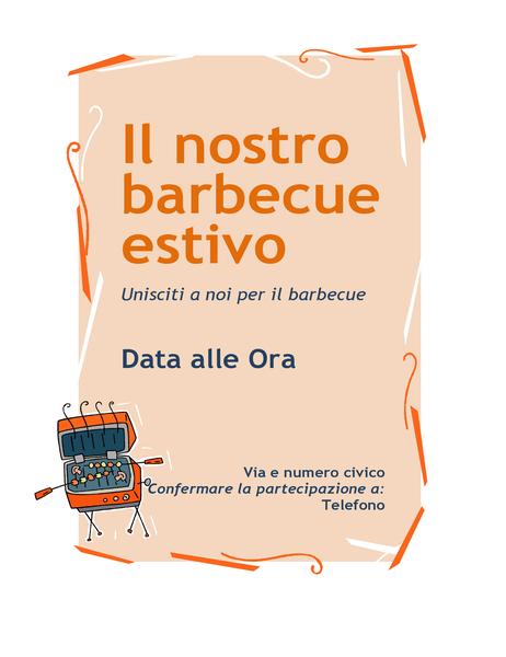 Volantino di invito a un barbecue