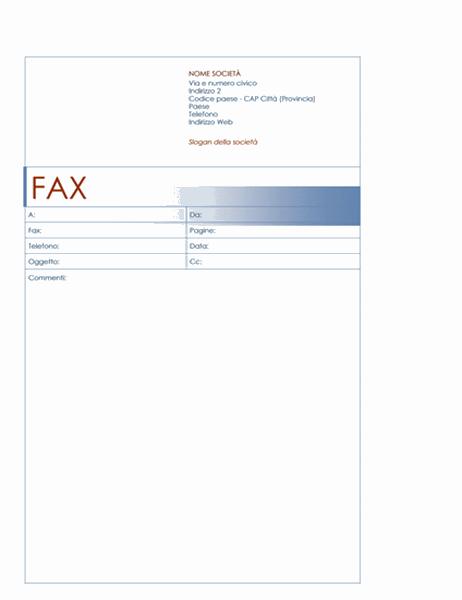 Copertina fax (tema Blu)