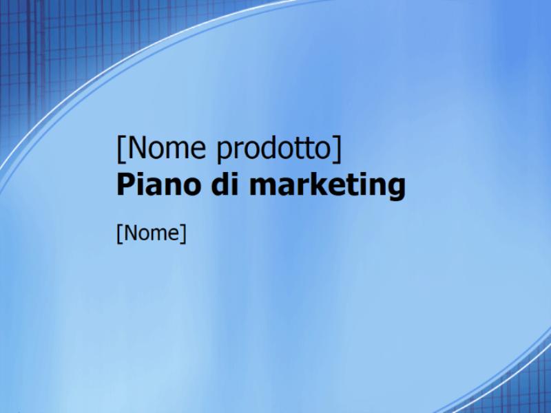 Presentazione Piano di marketing