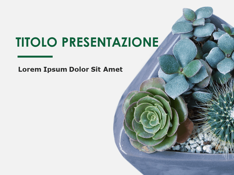 Diapositive con schema Botanica