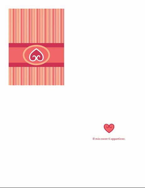 Biglietto d'amore (motivo rosso)