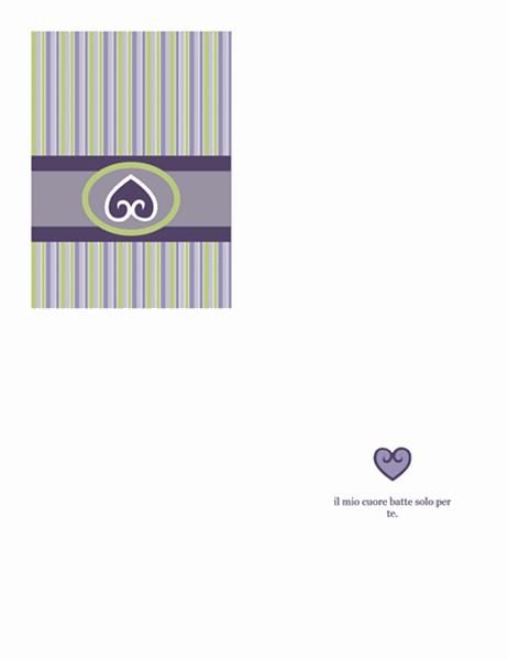 Biglietto d'amore (struttura viola)