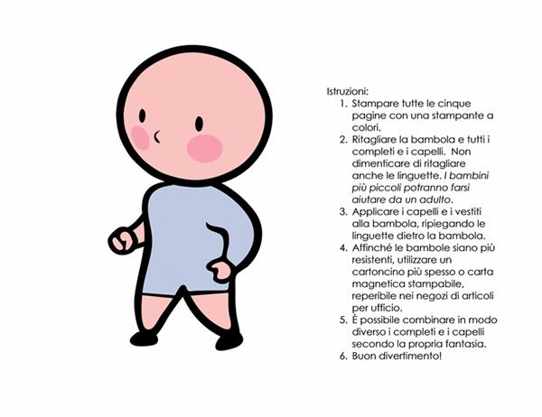 Bambole di carta (bambina, set 1)