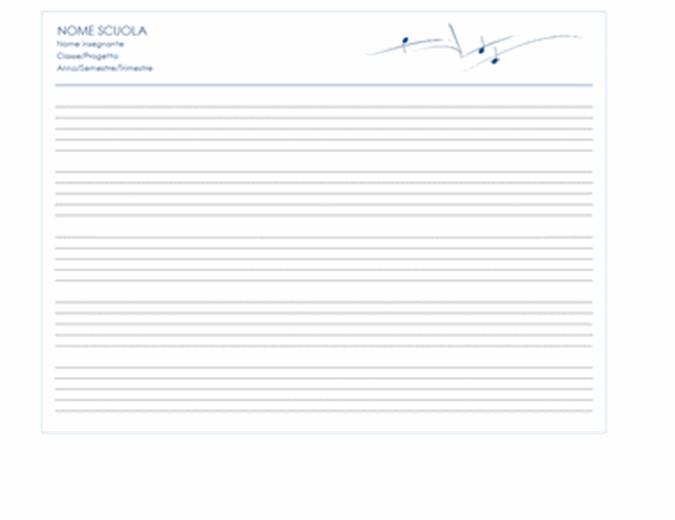 Documento generico per il personale (orizzontale, 5 pagine)