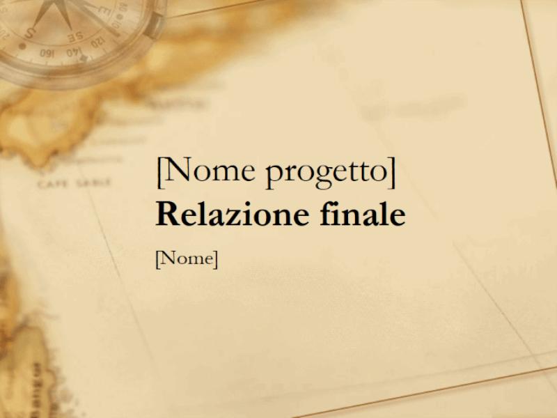 Presentazione per la relazione finale sul progetto