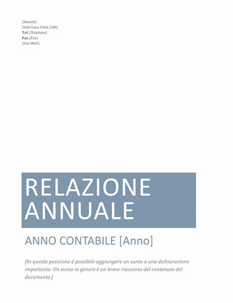 Relazione annuale