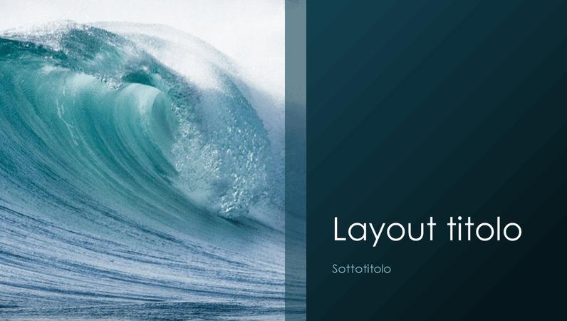 Presentazione a tema naturale con onde dell'oceano (widescreen)