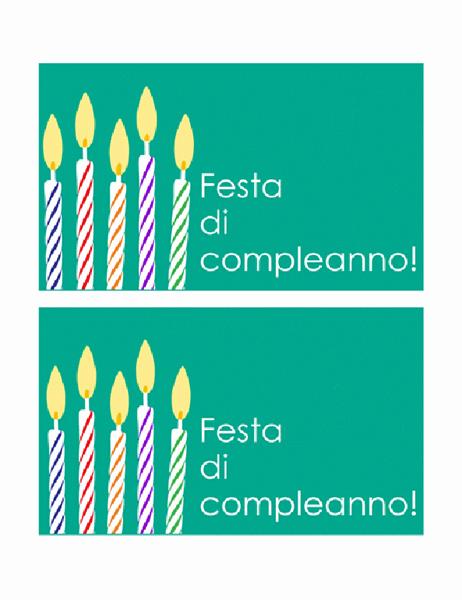 Invito per festa di compleanno