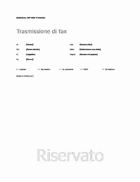 Copertina fax semplice