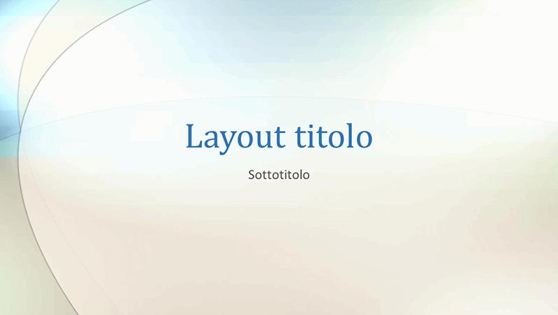 Diapositive schema nuvole sfumate