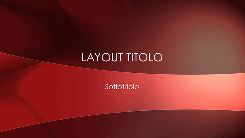 Diapositive con orizzonte rosso cremisi
