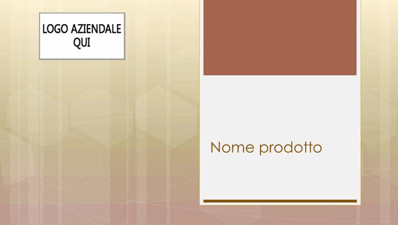 Presentazione aziendale di panoramica di un prodotto