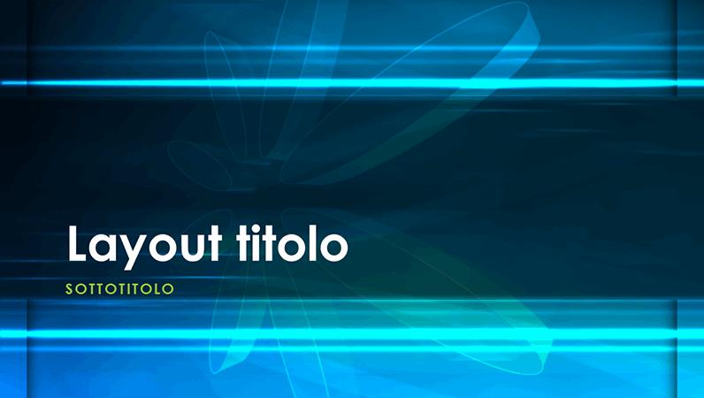 Diapositive con schema Atomo blu