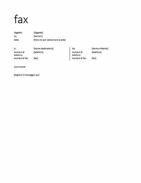 Frontespizio fax (informale)