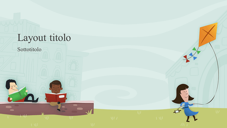 Presentazione per la scuola con bambini in cortile, album (widescreen)