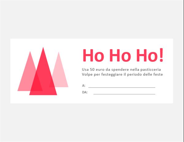 Buoni regalo per Natale (10 per pagina)