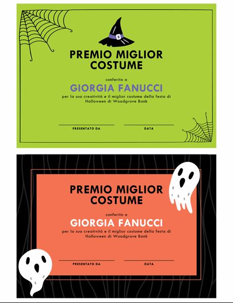 Premio costume di Halloween