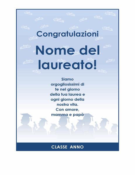 Volantino di congratulazioni per laurea (schema Festa di laurea)