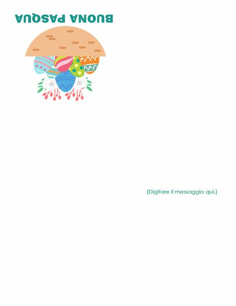 Biglietto di Pasqua (con uova, quattro facciate)