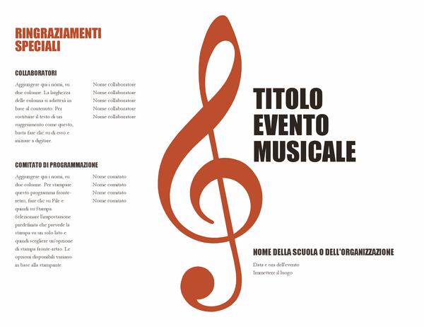 Programma musicale