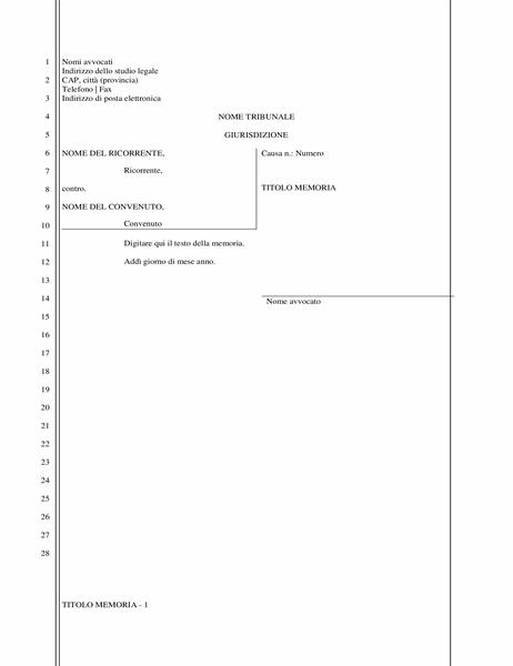 Dichiarazione legale (28 righe)