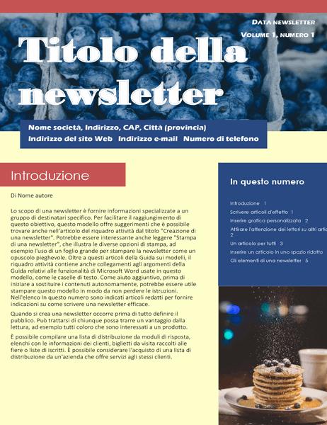 Newsletter aziendale (2 colonne, 6 pagine, mailer)