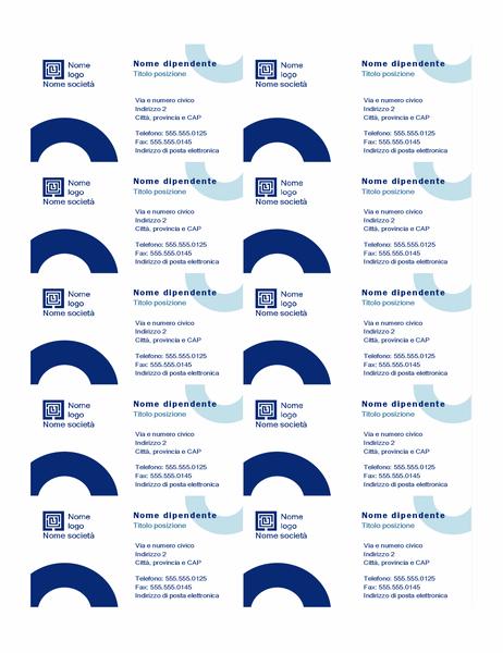 Biglietti da visita (design ad Arco, 10 per pagina)