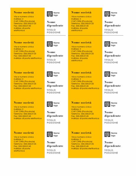Biglietti da visita (design Barre, 10 per pagina)