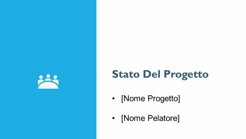 Presentazione di una relazione sullo stato del progetto