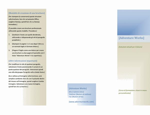 Brochure (8 1/2 x 11, orizzontale, pagina doppia)