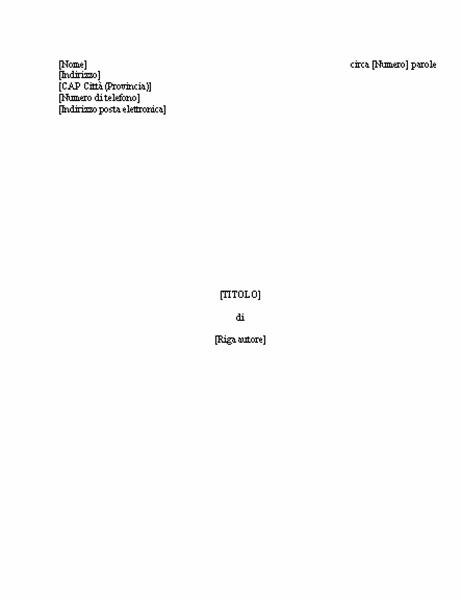 Manoscritto libro