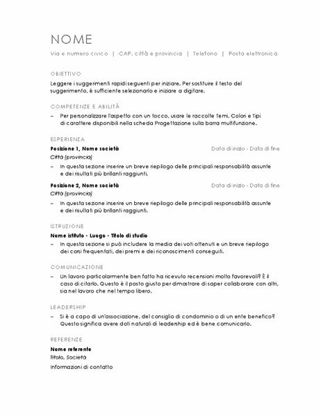 Curriculum (minimalista)