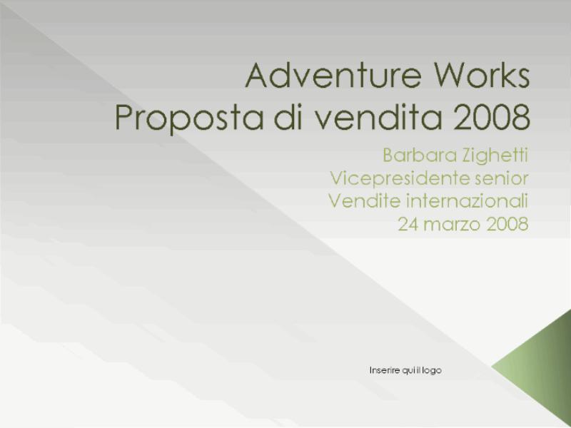 Presentazione proposta di vendita