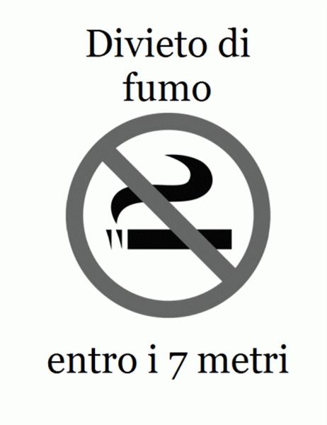 Cartello No Smoking (in bianco e nero)