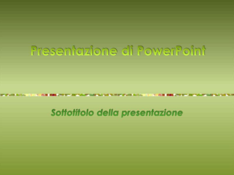 Modello struttura (tema verde)
