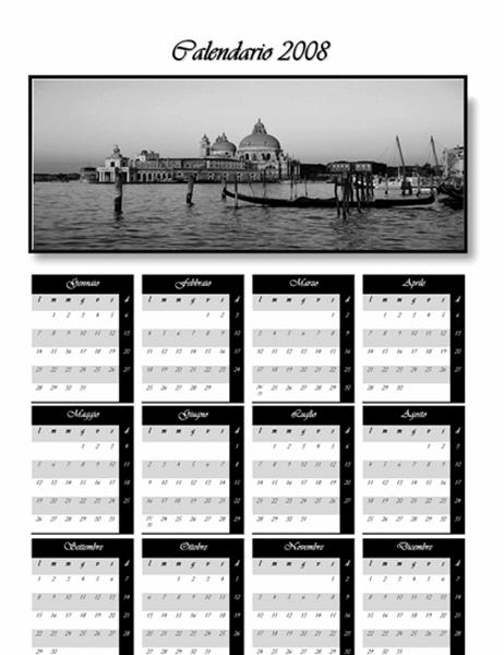 Calendario 2008 (A3 - Bianco/Nero)