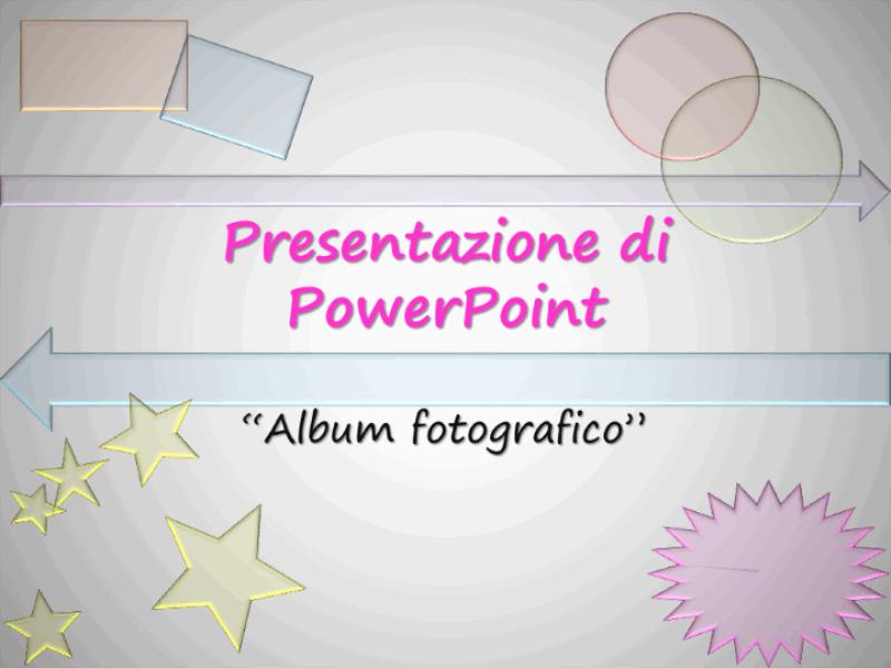 Modello struttura Album fotografico (multicolore)