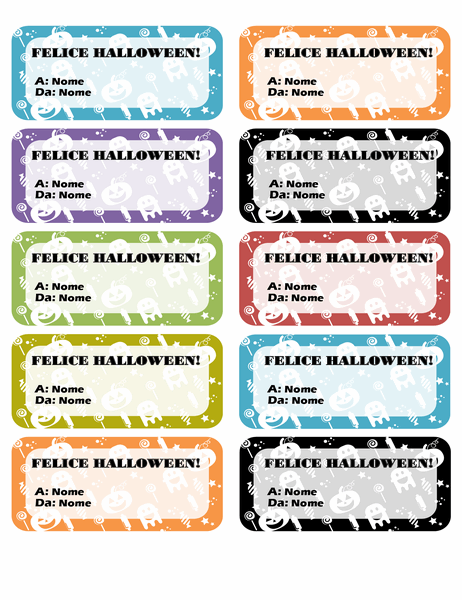 Etichette per Halloween (10 per pagina)