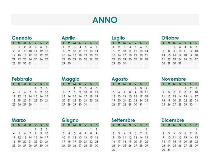 Calendar Creator (per qualsiasi anno)